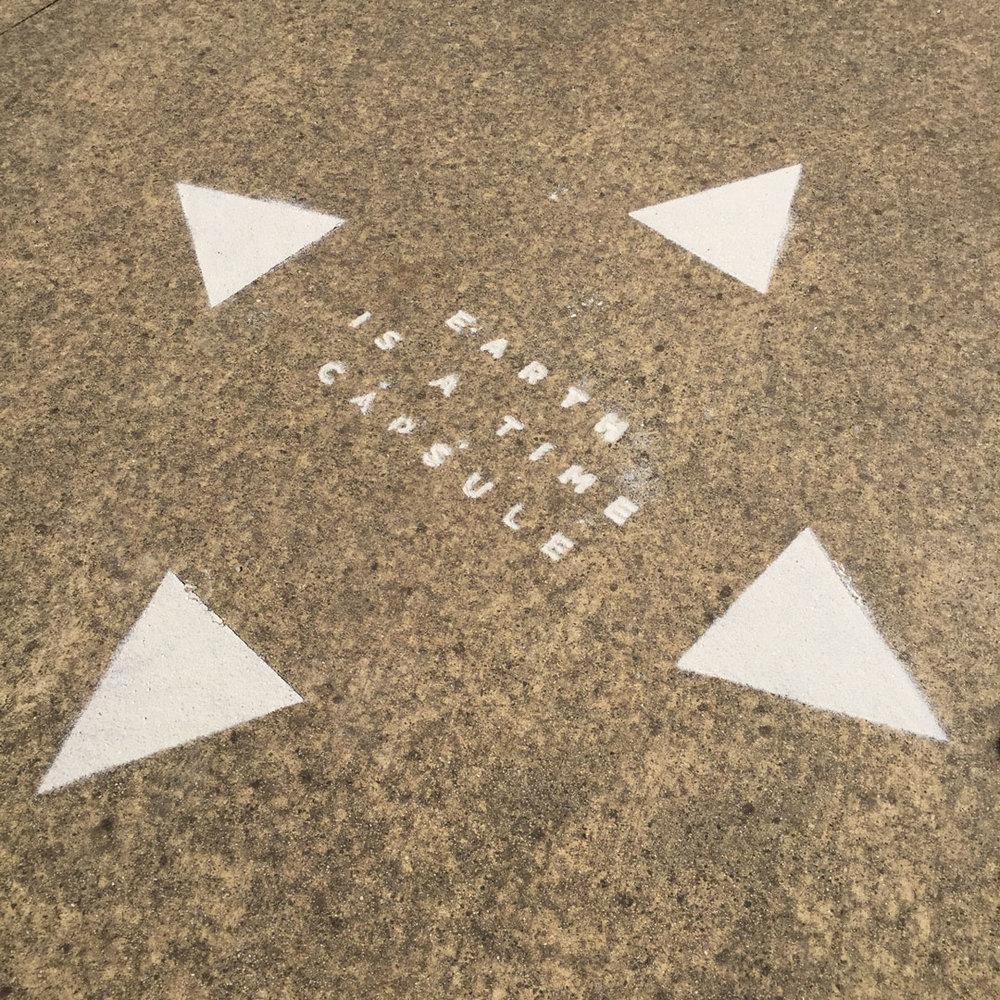 Soil Horizon , Jessie Stanley, 29/10/2016. Ephemeral sand and lime installation, Clifton Park, Brunswick.