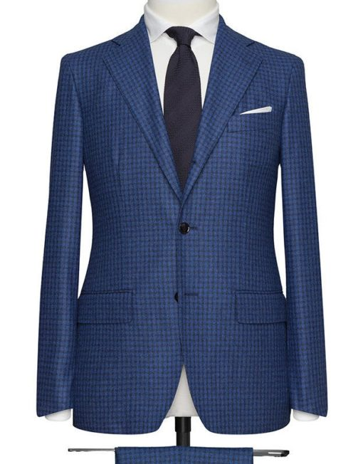 Checkered Blue Suit