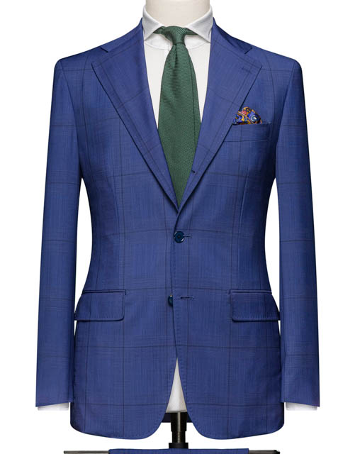 Blue Suit w. Windowpane