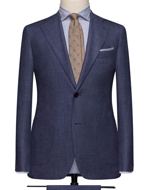 Gray Blue Navy Suit