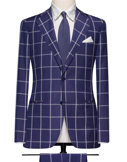 Royal Navy Chalk Windowpane Suit