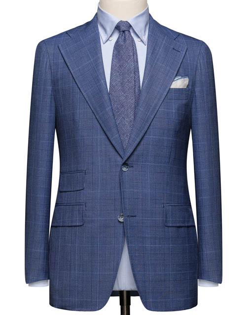 Blue Patterned Suit