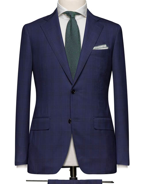 Navy Subtle Windowpane Suit