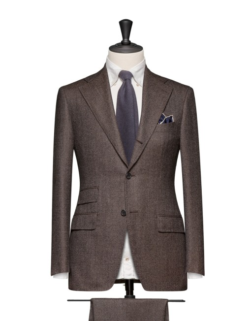 Men's Brown Flannel Suit