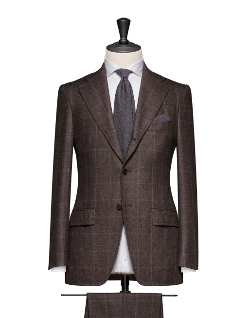 Dark Brown Wool Flannel Suit