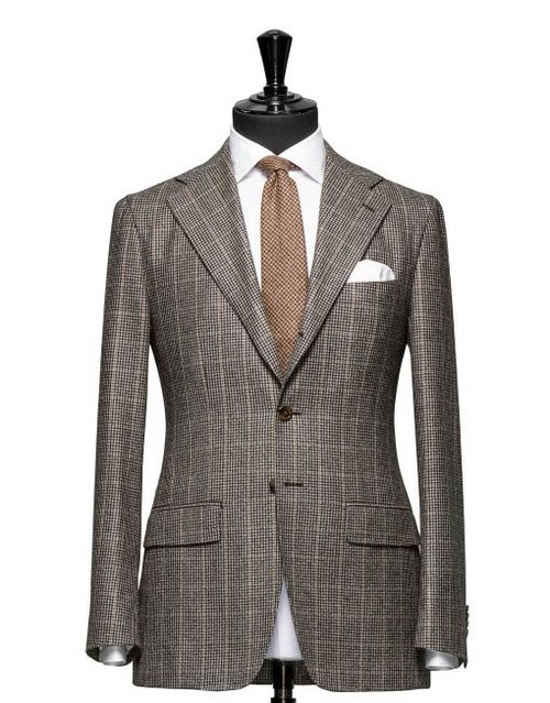 Brown Suit Hall Madden Fascinating Patterned Suit Jacket