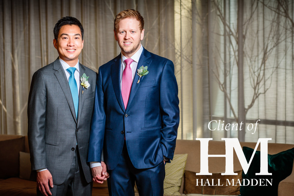 97bed965646c Jon & Jason in Loro Piana Winter Tasmanian Sharkskin Bespoke Suits · HALL  MADDEN