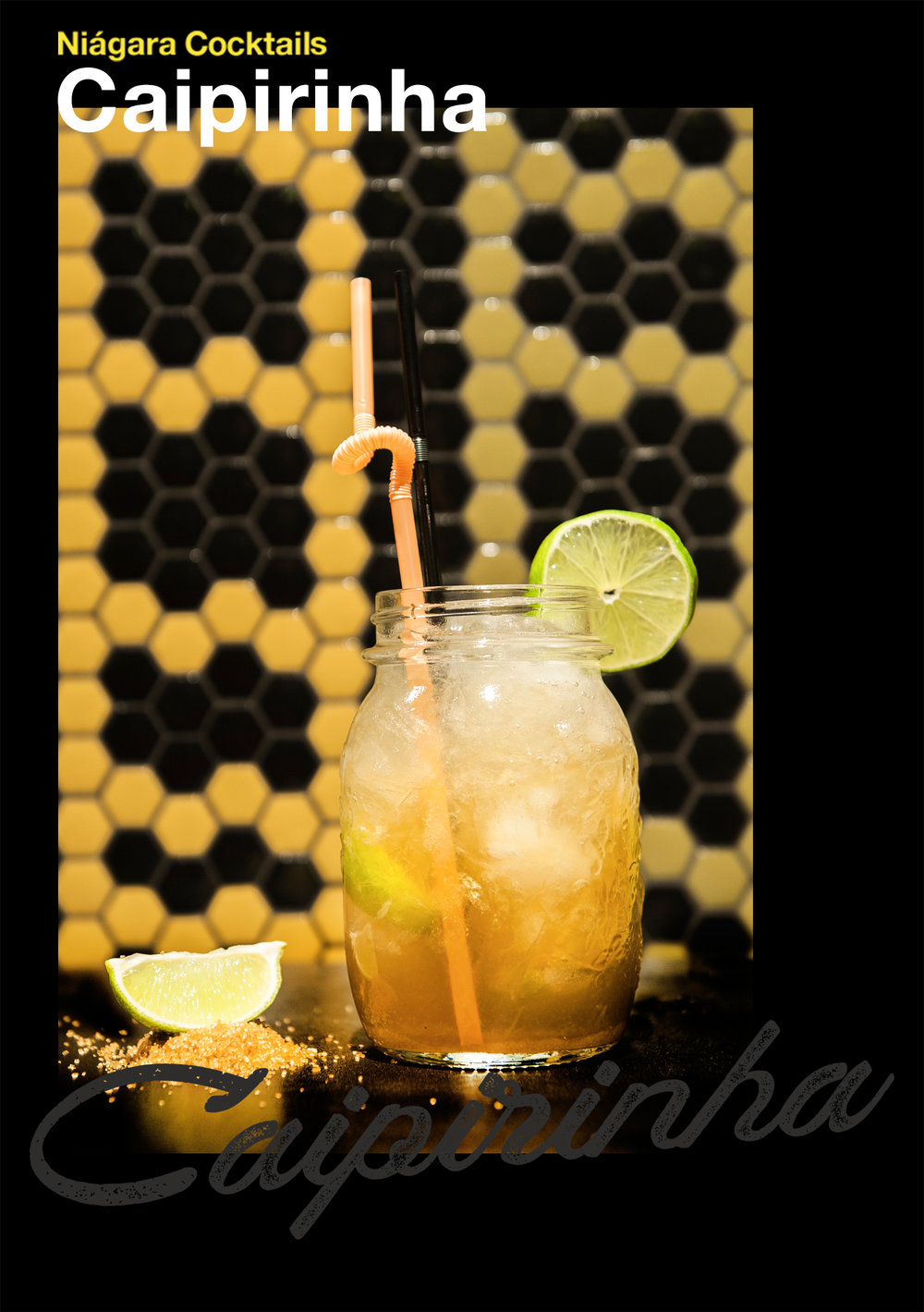 Viva Brasil - Caipirinha, bebida oficial de Brasil. Con un delicioso sabor a lima, apaga tu sed, disfruta del paraíso y mueve tus caderas!