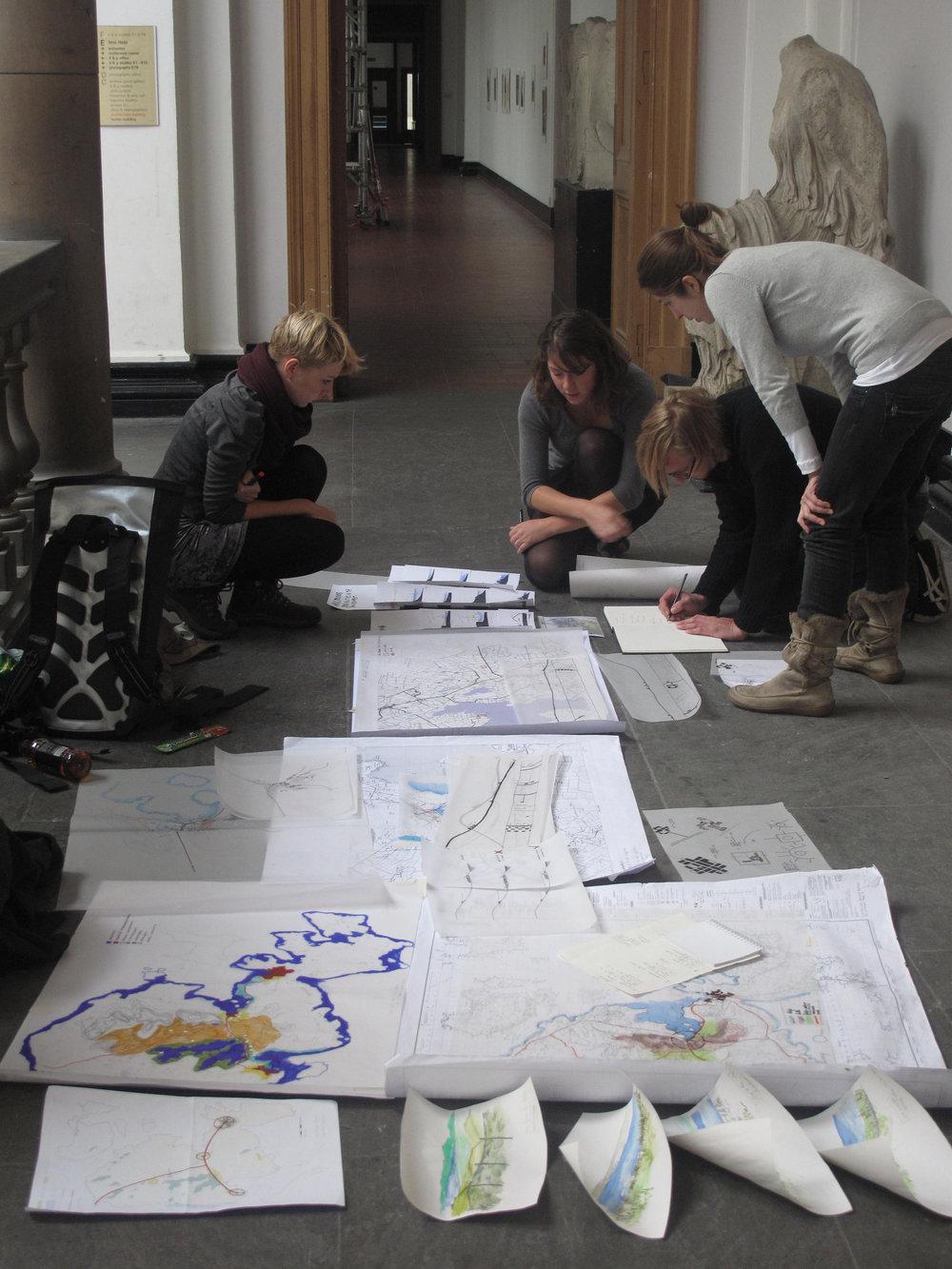 stuents rehearsing orkney presentation.jpg