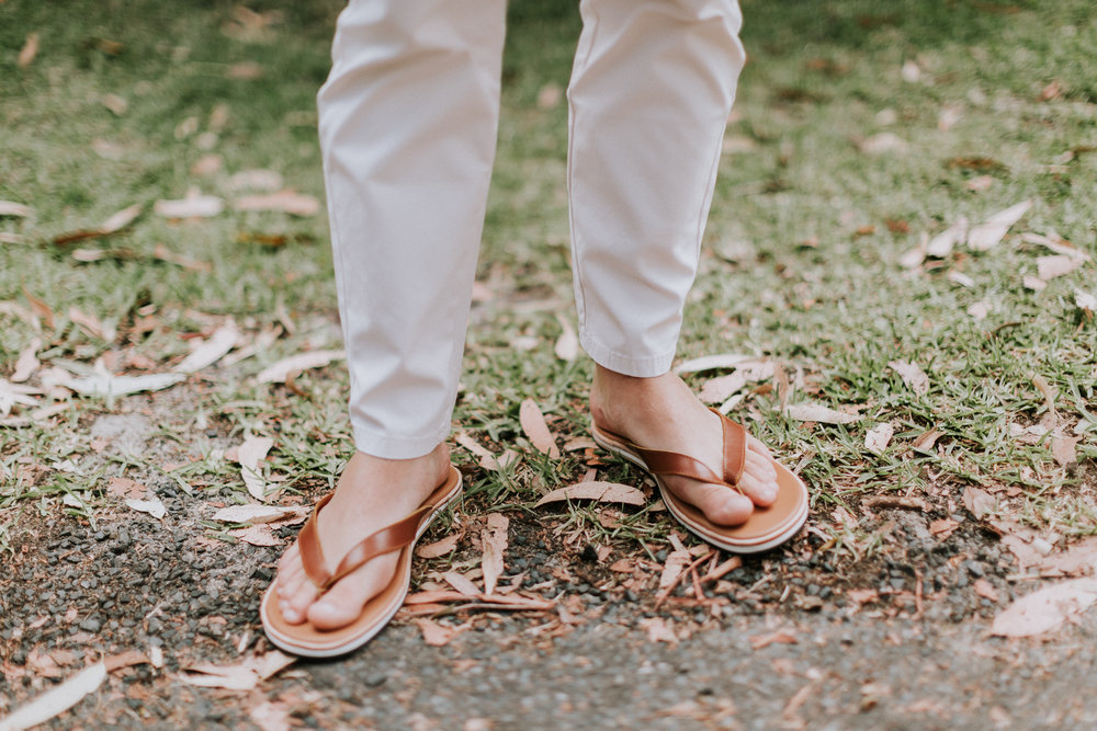 Groom`s shoes, at the wedding at Smiths Lake, NSW Australia