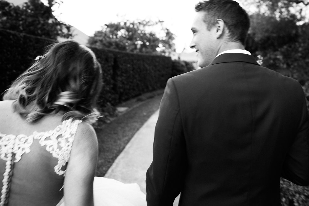 Alberto Gobbato walking with Bride and Groom at The Hunter Valley