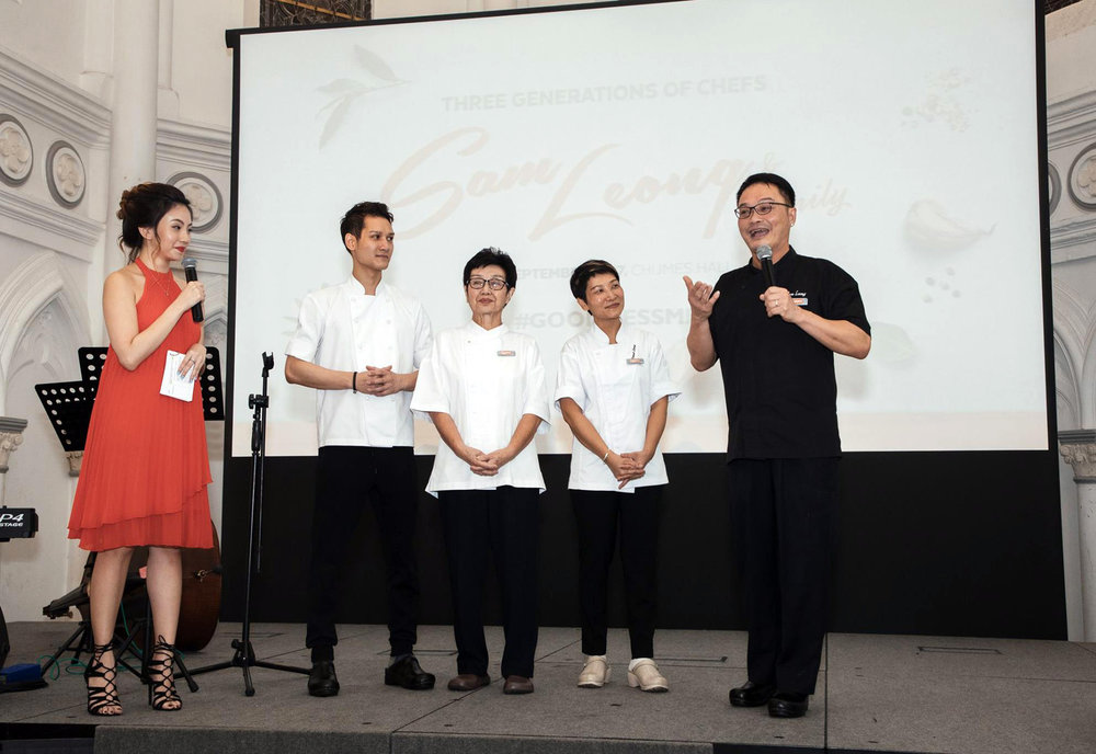 Chef Sam Leong & Family Invitation to Dinner with Quorn Singapore