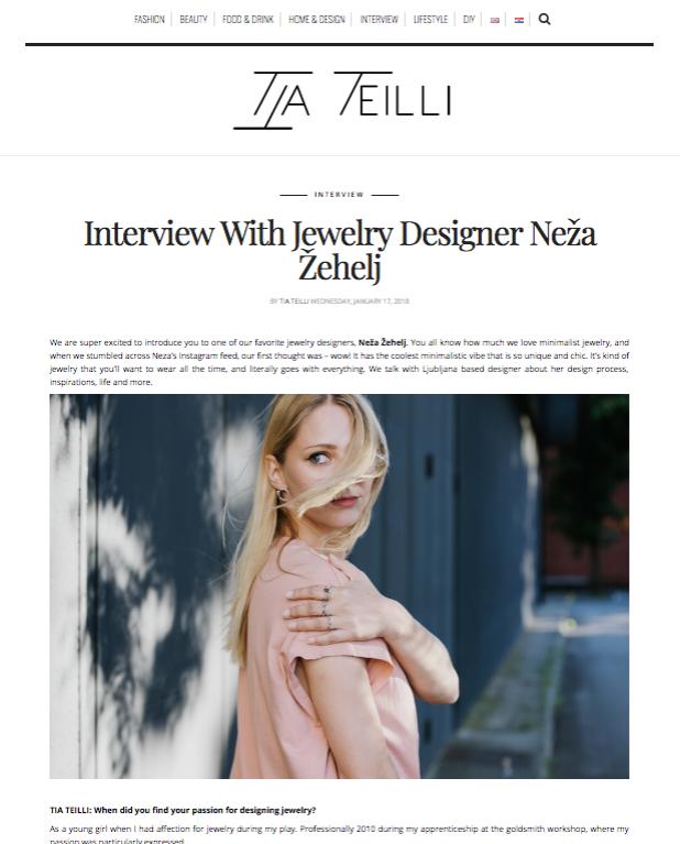 - Interview / Tia Teilli blog