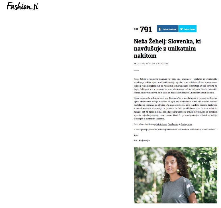 - Article / portal fashion.si