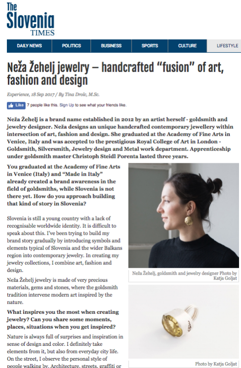 - Interview / digital issue of Slovenia Times magazine