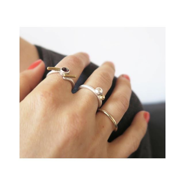 Style is a reflection of your attitude and your personality.  Silver, brass & golden detailed rings are available at my studio or on demand. www.neza-zehelj.