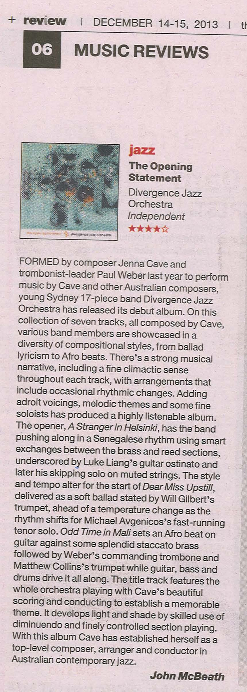DJO review_Australian_Dec 2013