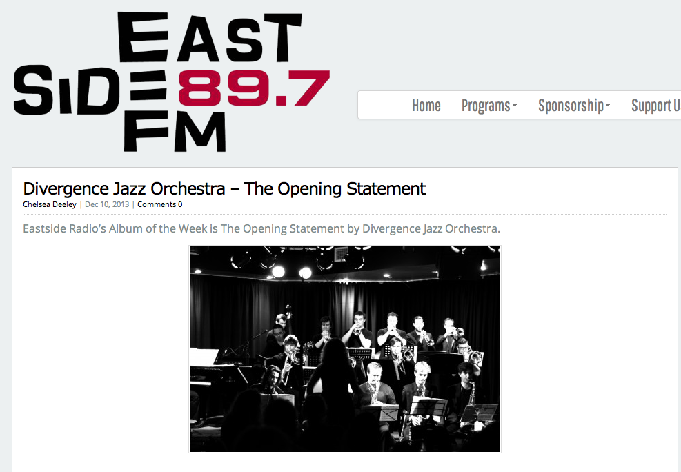The Opening Statement- album of the week on Eastside Radio