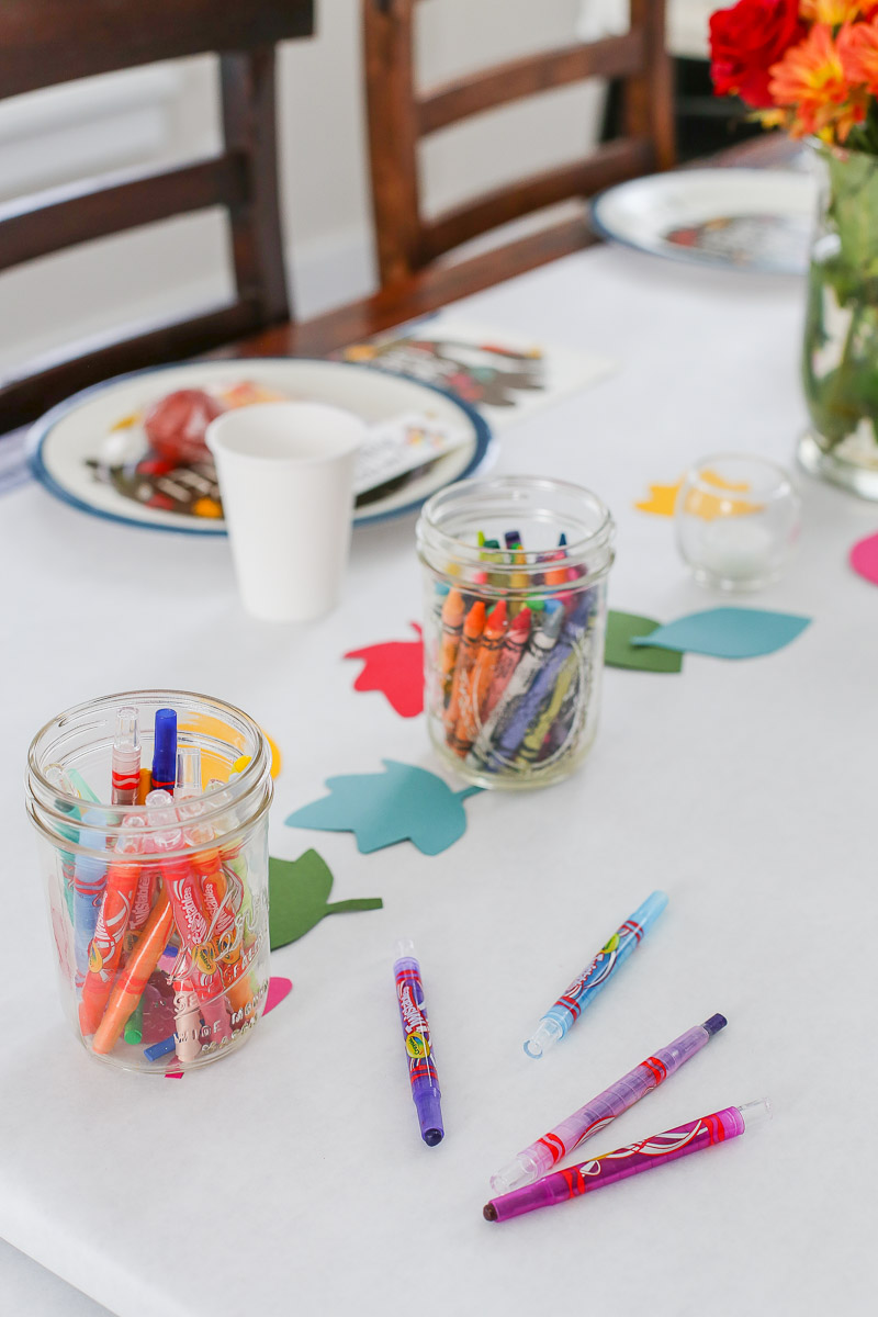 Color Your Own Tablecloth Thanskgiving