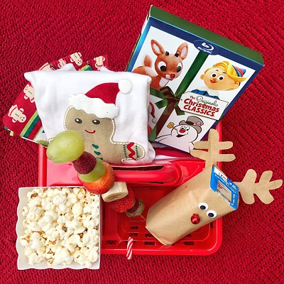 Christmas movie snack caddy