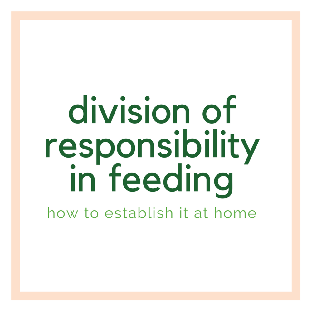 establishing the division of responsibility