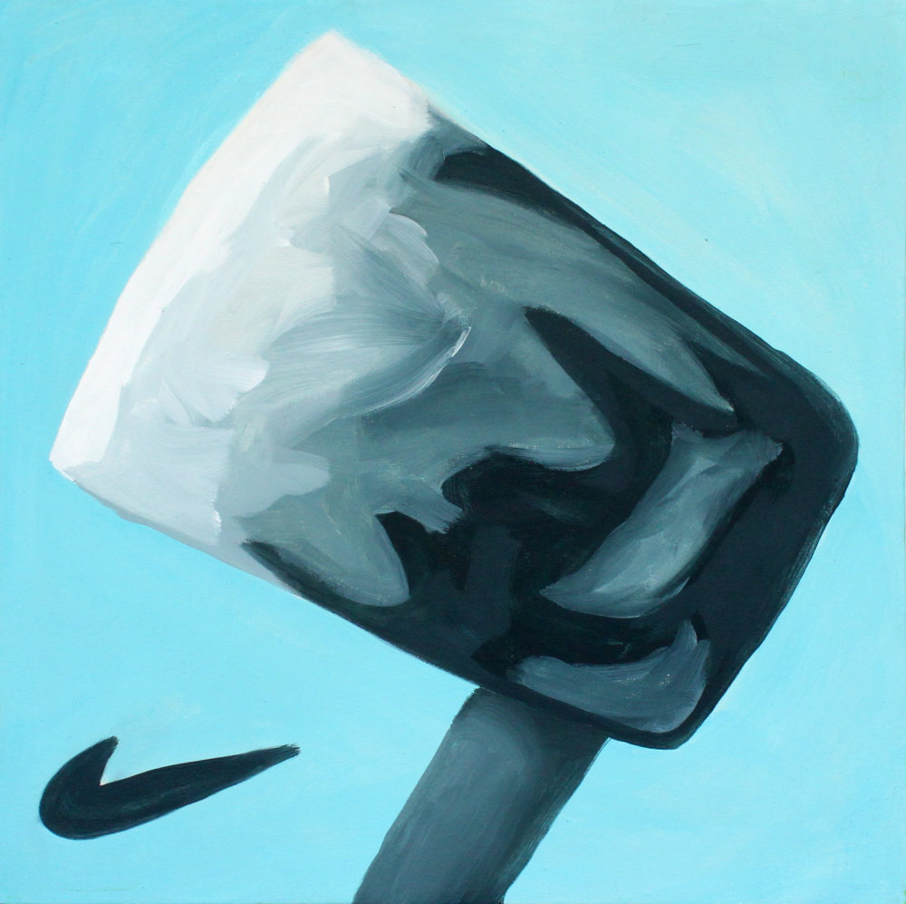 Nike air m-axe, 50x50, acryl op canvas, 2015.jpg