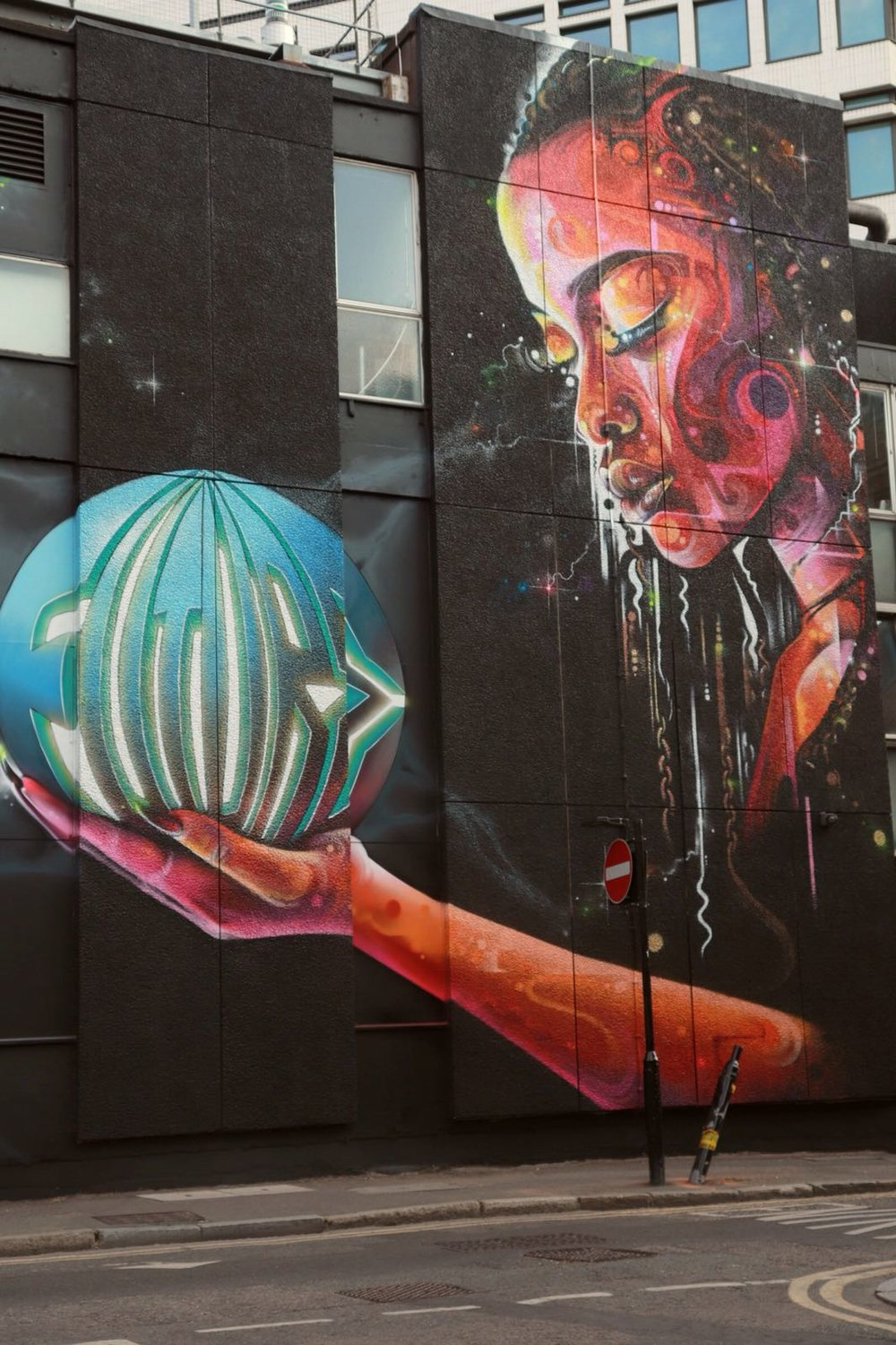 Talented local street artists have added their mark just around the corner. Art by Mr Cenz