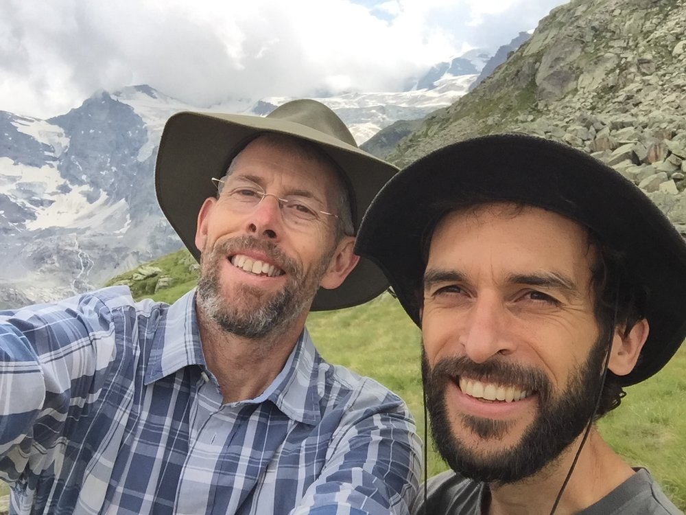 Julien (on the right) and me. In 2017, I've lost my beard and Julien's has grown longer and bushier. We invite you to join us in Cogne for our next Gathering - June 15th, 16th, 17th & 18th, 2017. No extreme walks or anything like that. Just a lot of time to slow down, stop and reflect.