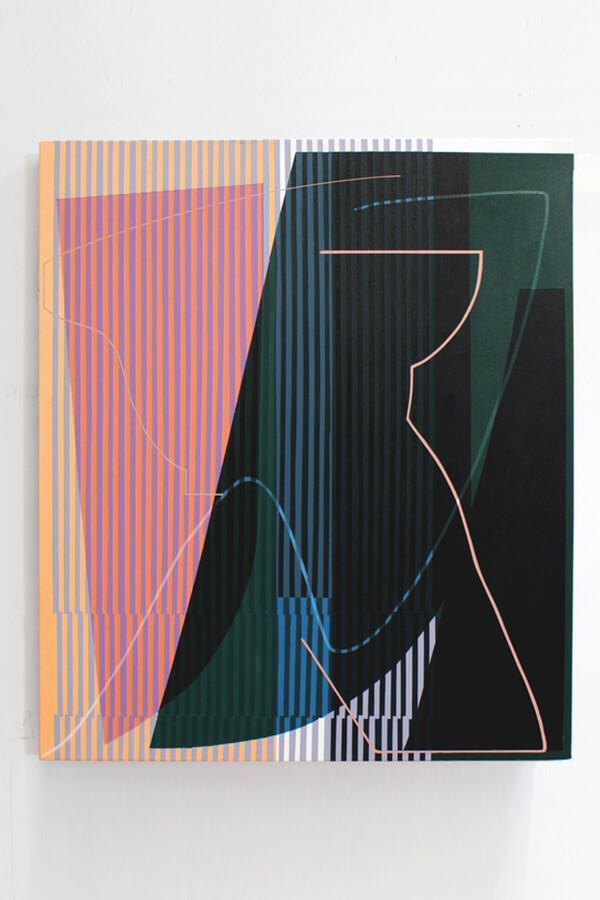 Kathryn MacNaughton,  Relief , 2018 Acrylic on canvas 91 x 107cm