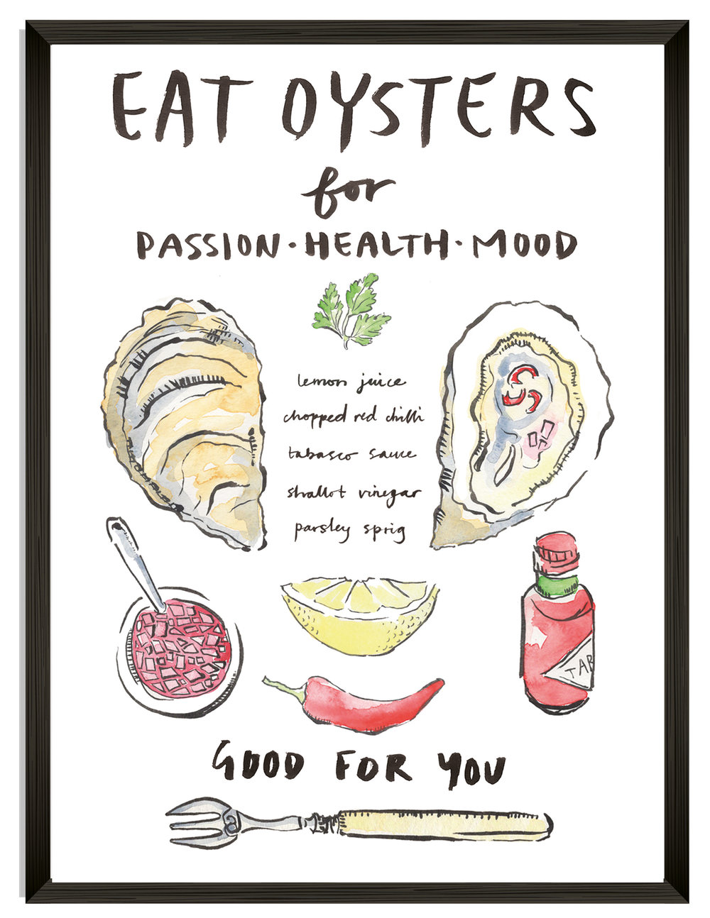 'EAT OYSTERS' A4 Art Print £20    Click to treat yourself!