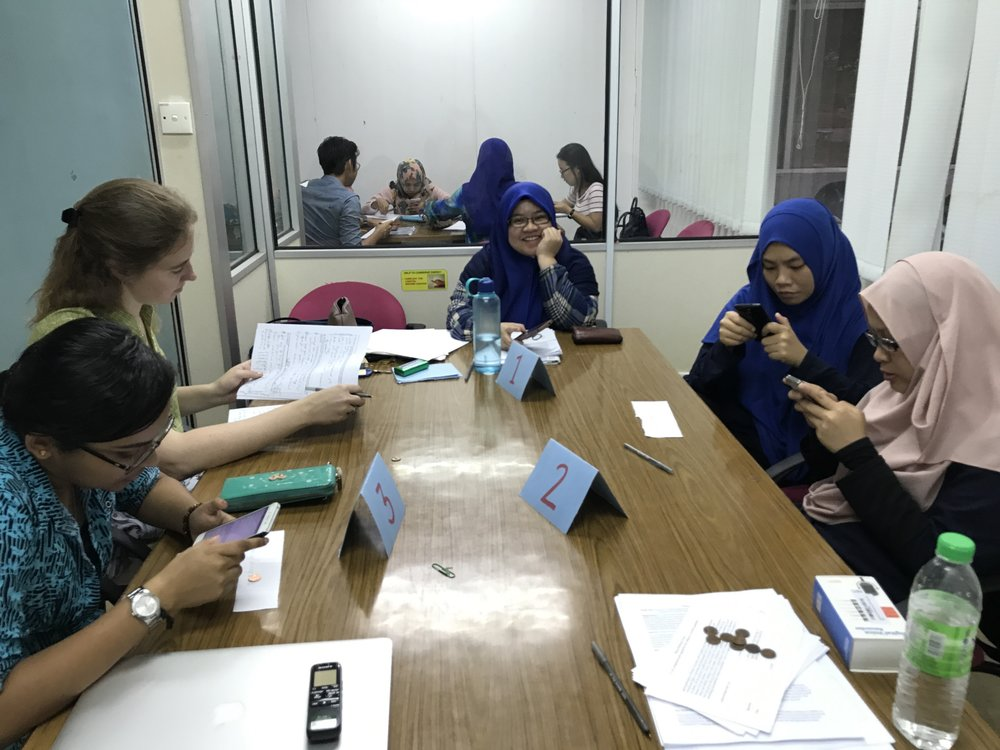 Interviewing engineering students at the UTM campus in Johor Bahru.
