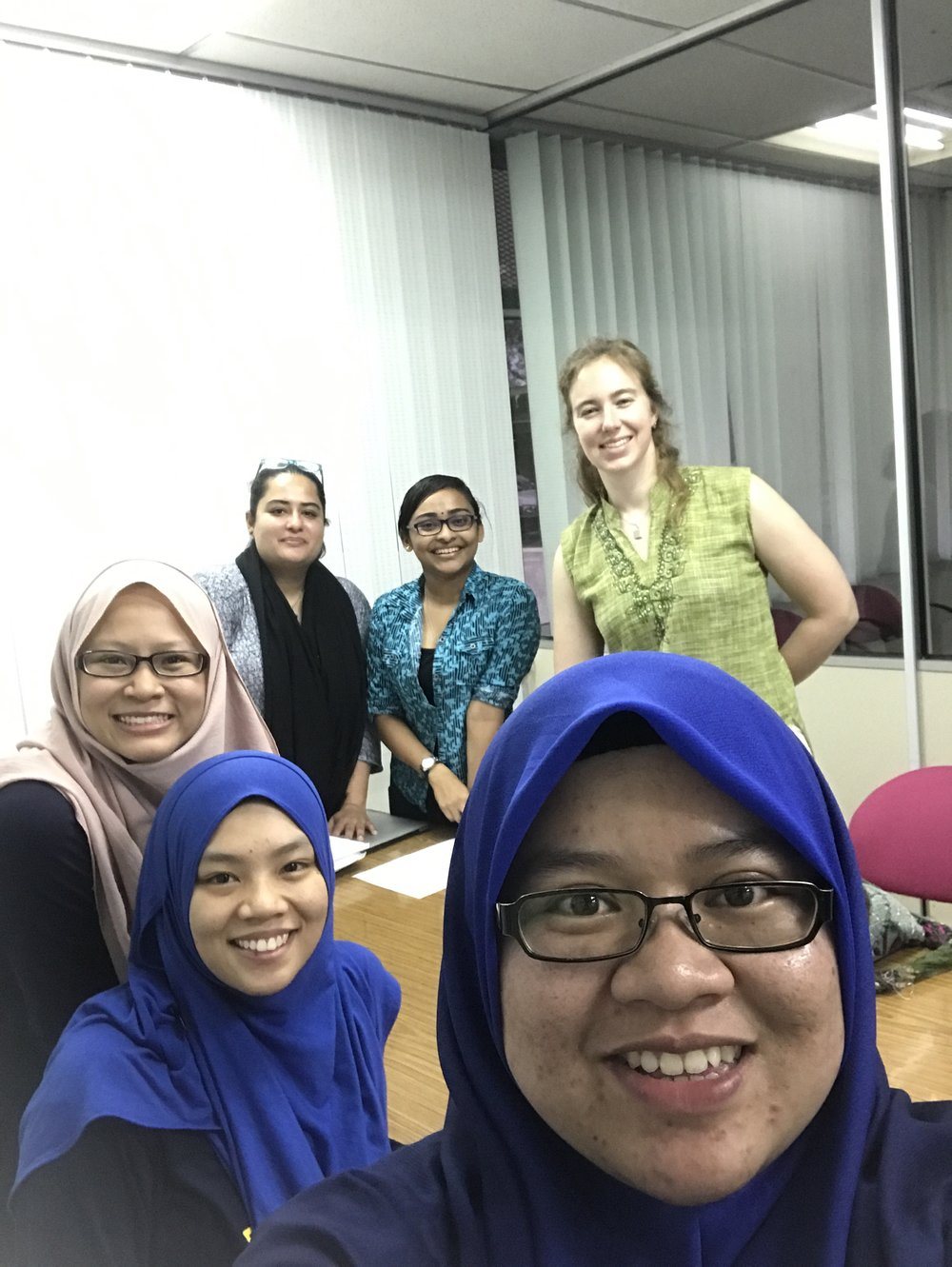Posing for a casual selfie with Zulaikha, the local PHD student student working with us on this project.