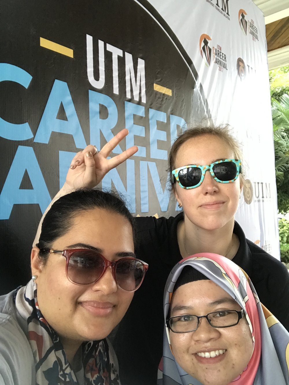 Asian peace at the career carnival.