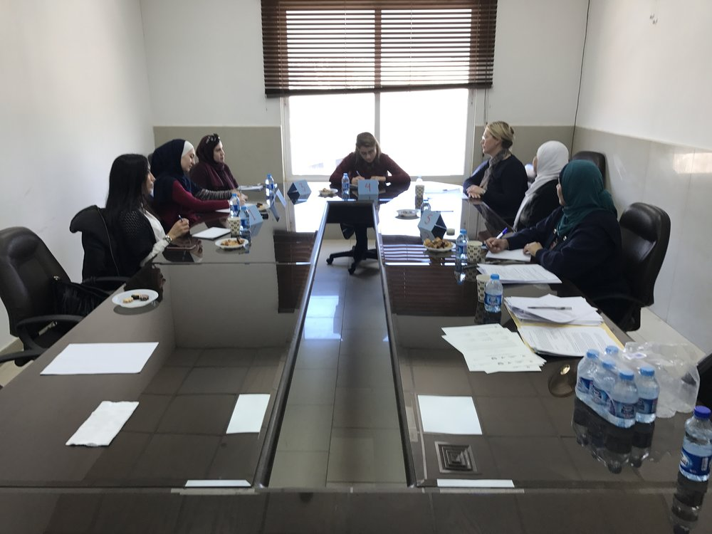 Focus group with practicing engineers at Al-Ahliyya Amman University (AAU) near Amman.