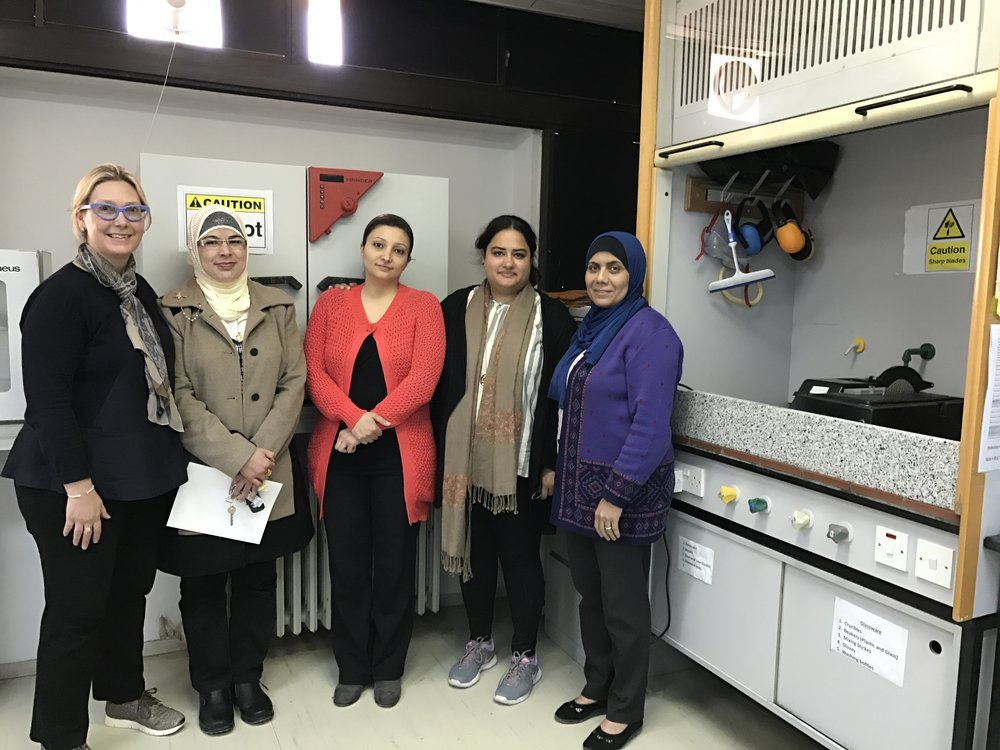 We met a woman faculty member in her lab, who is the only PhD in Aeronautical engineering in Jordan.