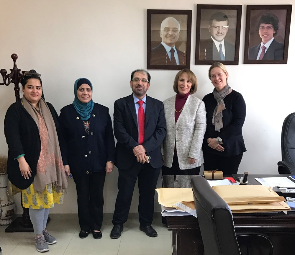 We also met the dean of engineering Dr. Lina Shabeeb while visiting AAU.