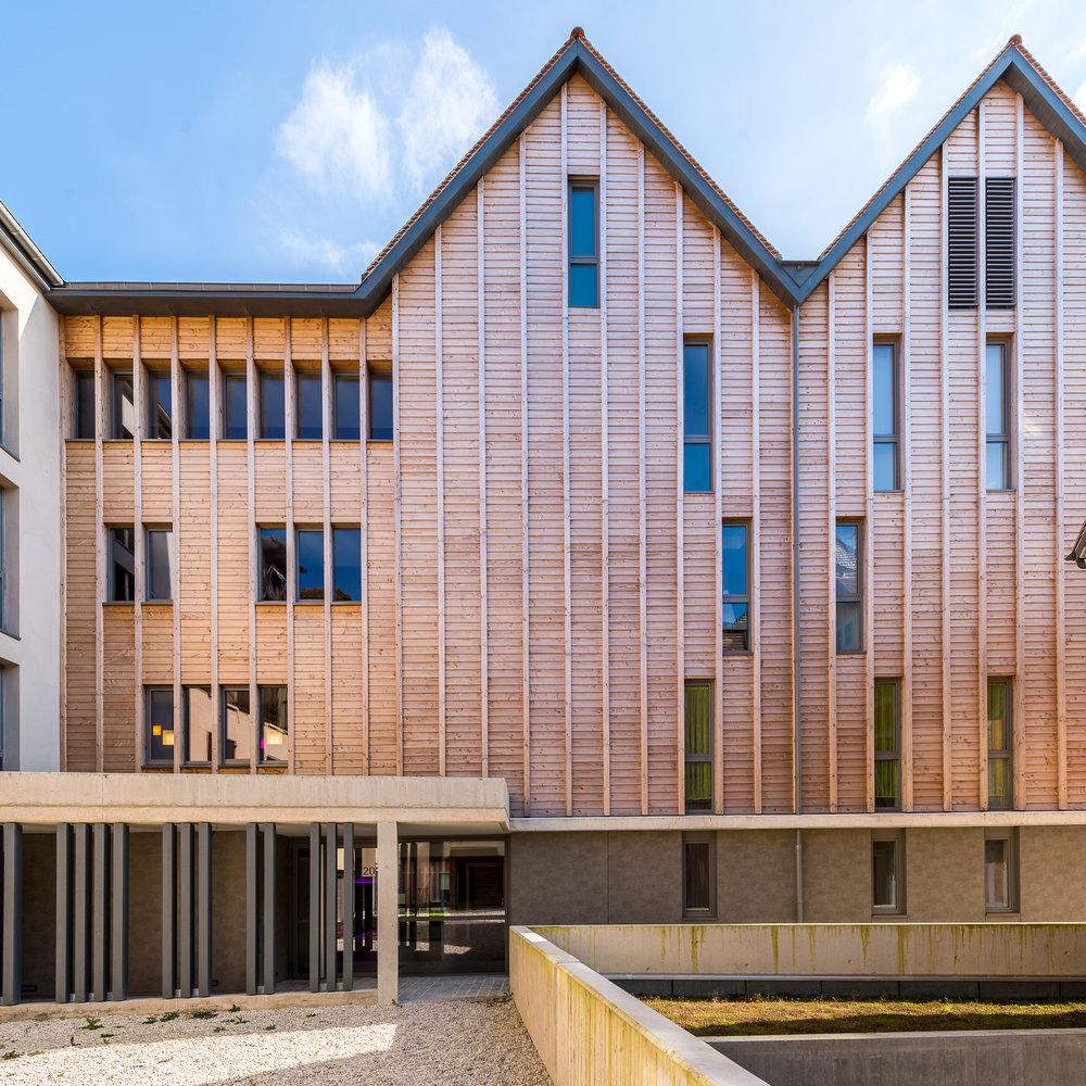 Construction de 26 logements et commerces en secteur sauvegardé de Troyes - Lauréat des Ecussons 2015 remis par Sauvegarde et Avenir de Troyes