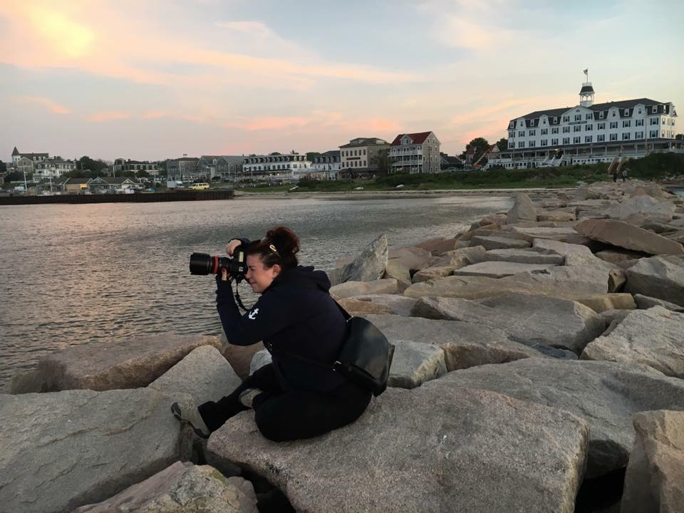 Amber shooting on Block Island, Rhode Island. Photo credit: Melissa Arkin.