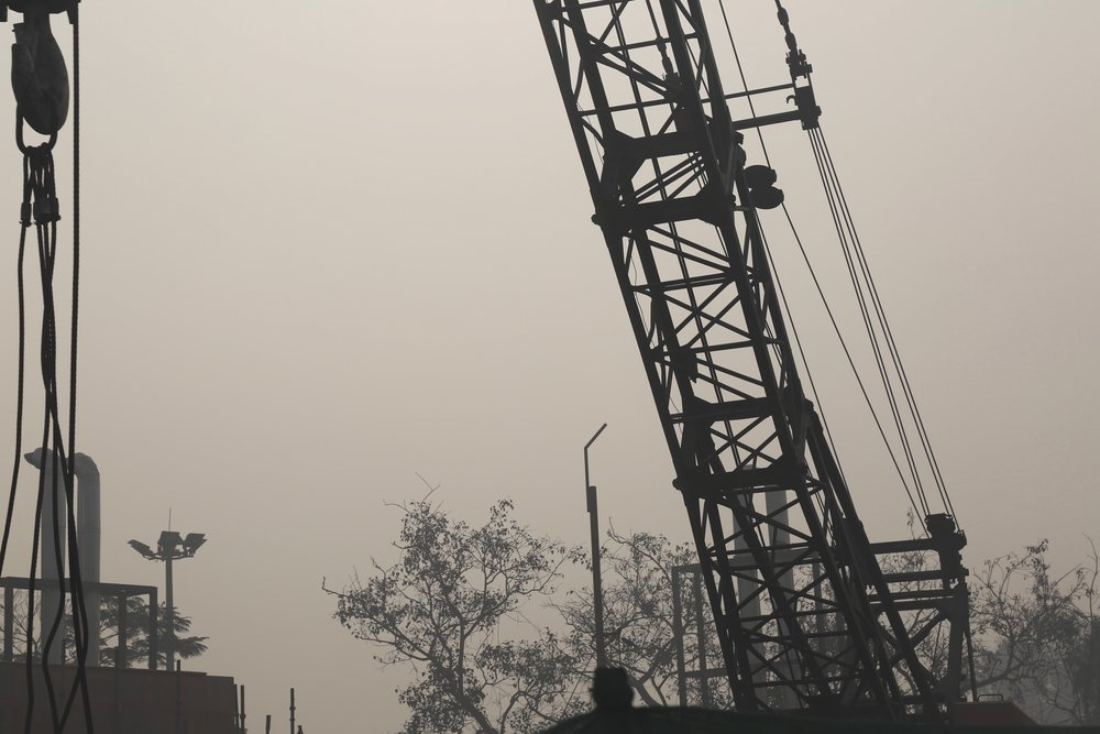 A construction site at the entrance to Chandni Chowk. (Chandni Chowk, Delhi)