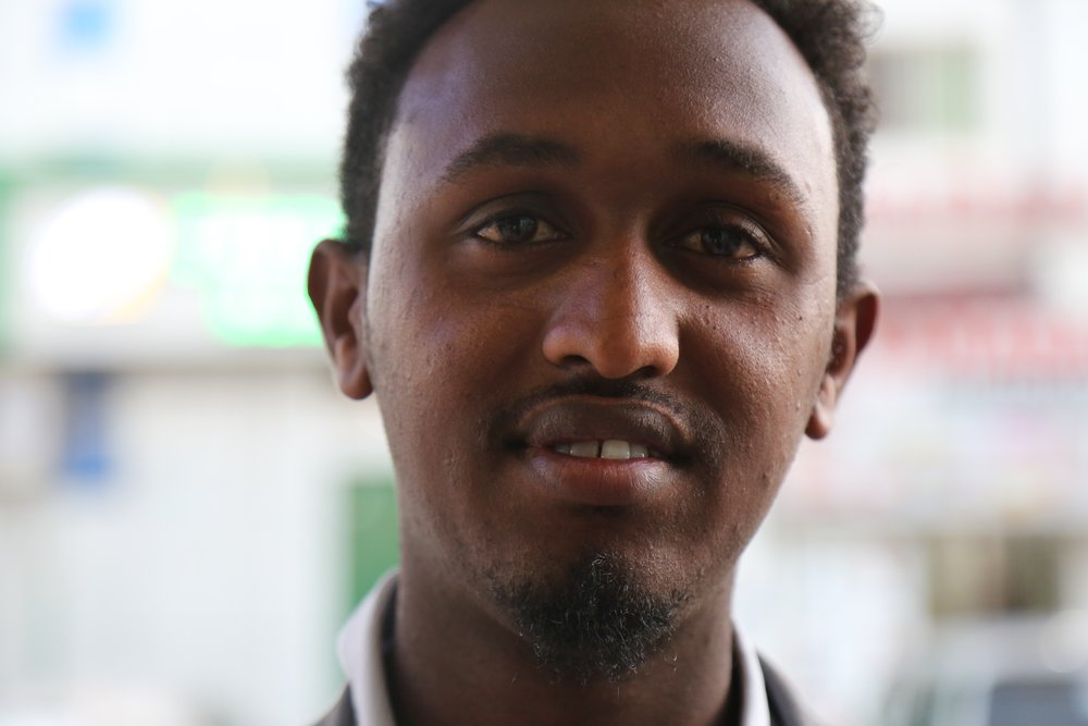 Mohamed, 23, uses social media to spread the message Photograph: Alice Rowsome