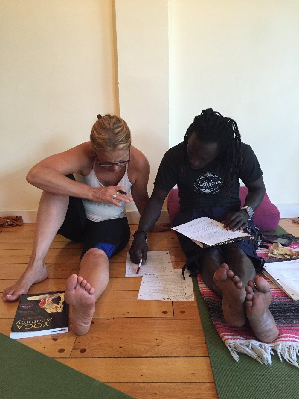 Jennifer and Bisko Studying YTT.JPG
