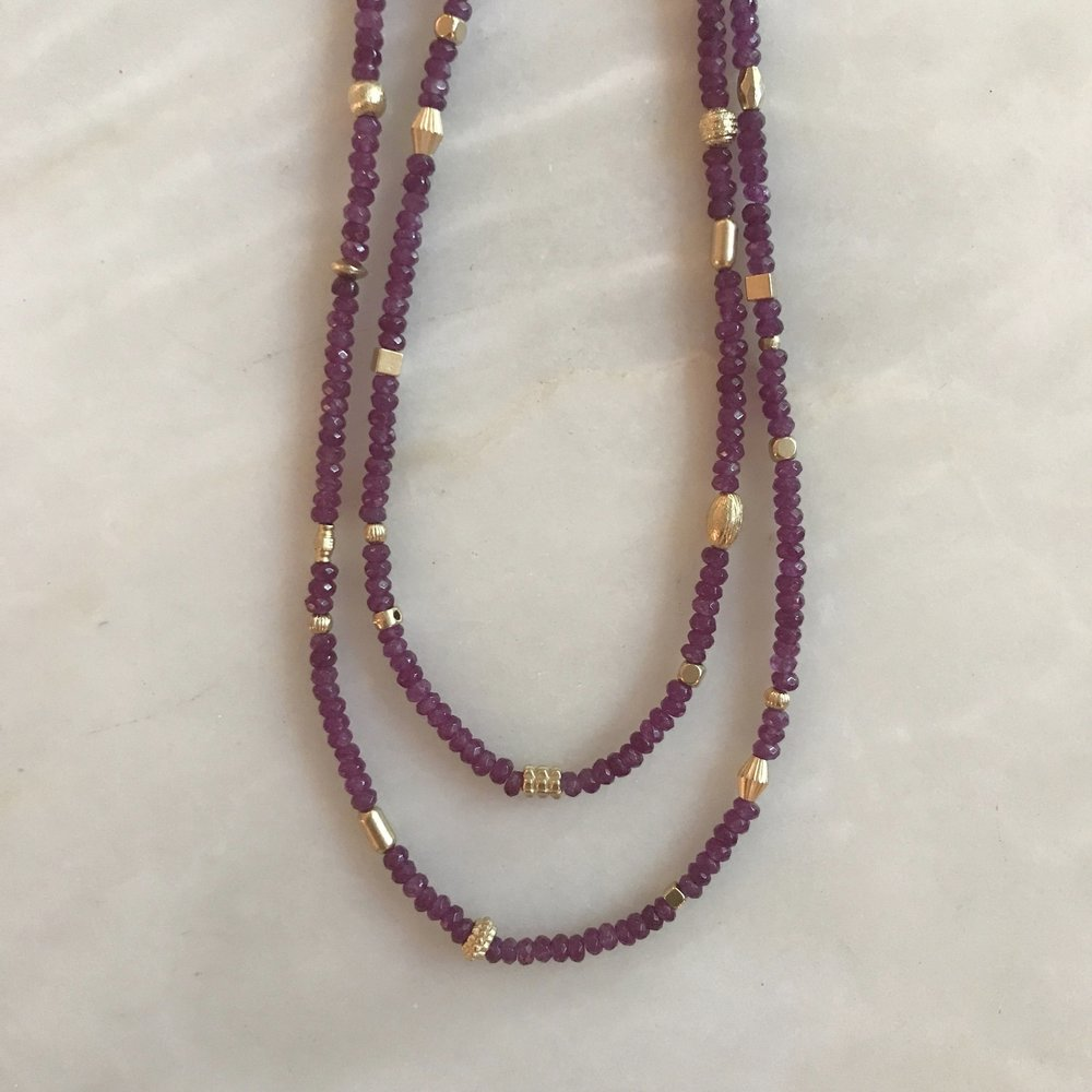 Jewelry & Watches Purple Stone Necklace
