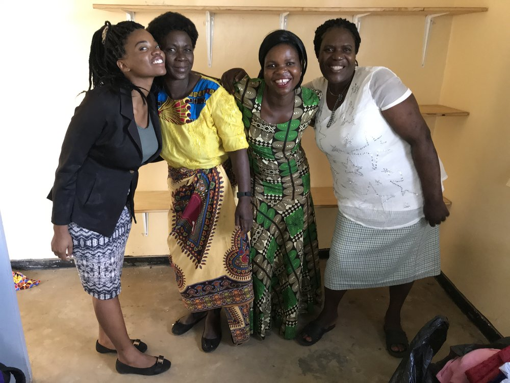 Mary (far left) with the Malawi MoonCatcher Cooperative tailors