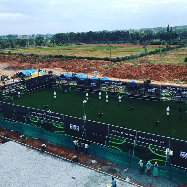 First goal station outside Europa #bangalore #india #academy #bengaluru