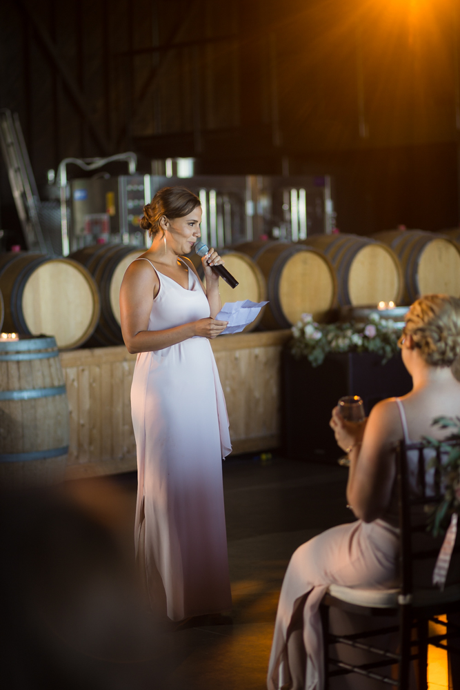 She sang her toast and it slayed @ Saltwater Farms Vineyard
