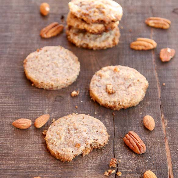 Pecan Almond Shortbread Cookies