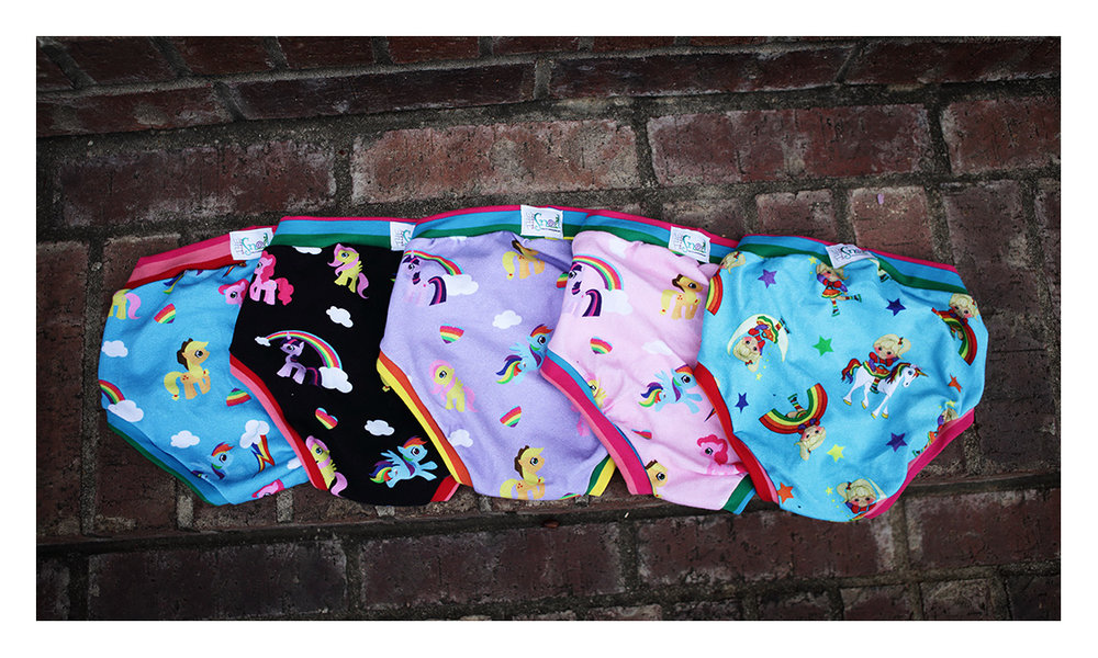 Korah is all about some ponies... every color of pony ever made... and one much brighter rainbow bright print since who doesn't live RB?