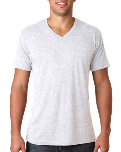 White Custom V-neck T-shirt
