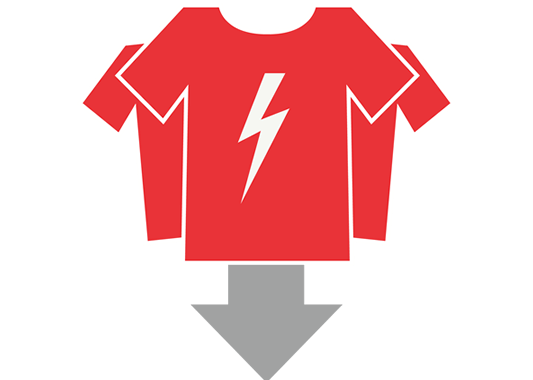 With bulk ordering your costs per shirt decreases -