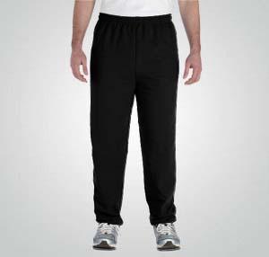 Custom sweatpants with elastic cuffs